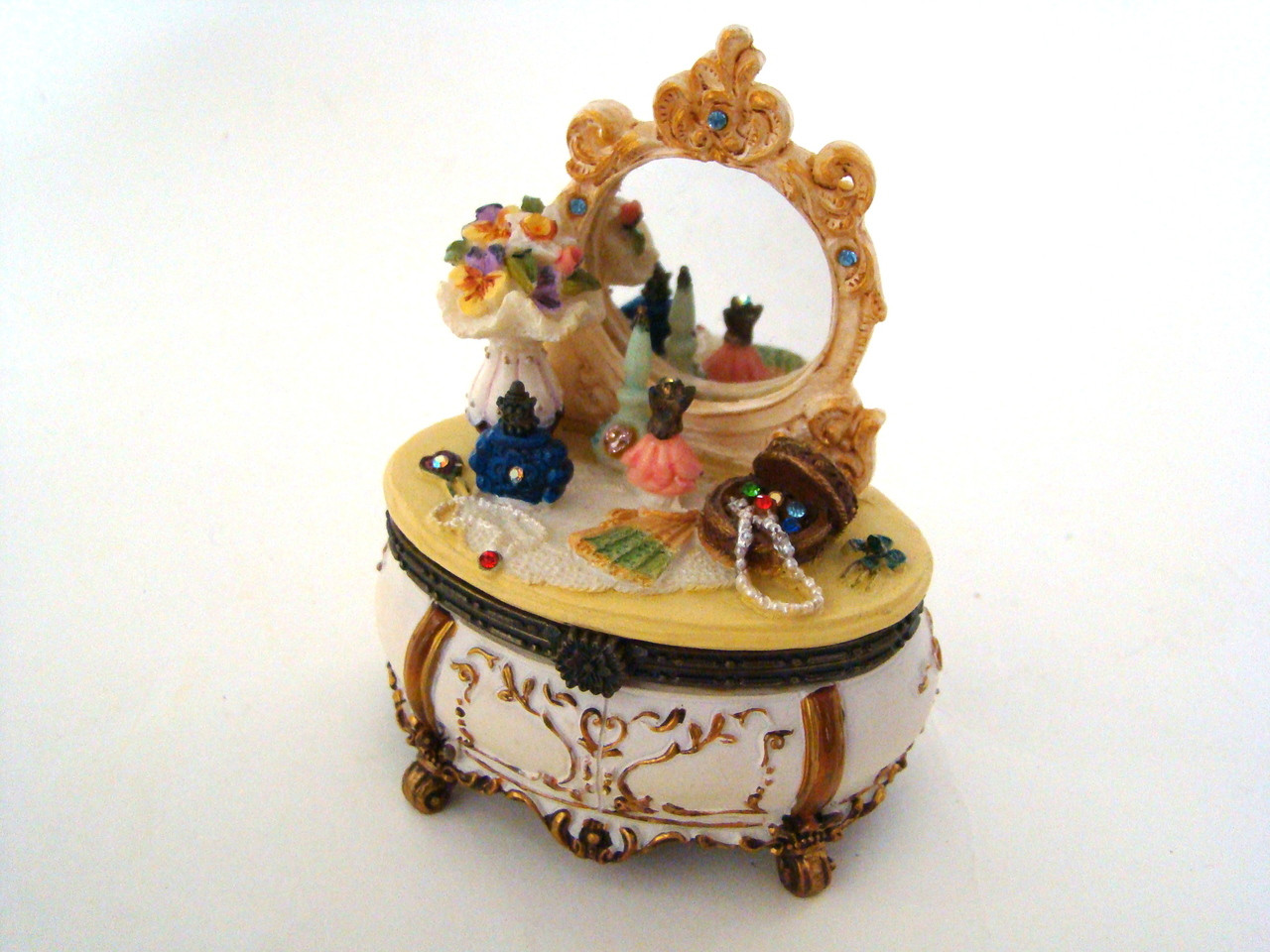 Popular Imports Decorated Vintage Look Victorian Dresser Hinged Box