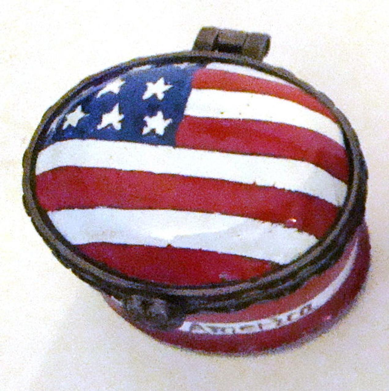 Kelvin Chen USA Flag Miniature Enamel Hinged Box EH521