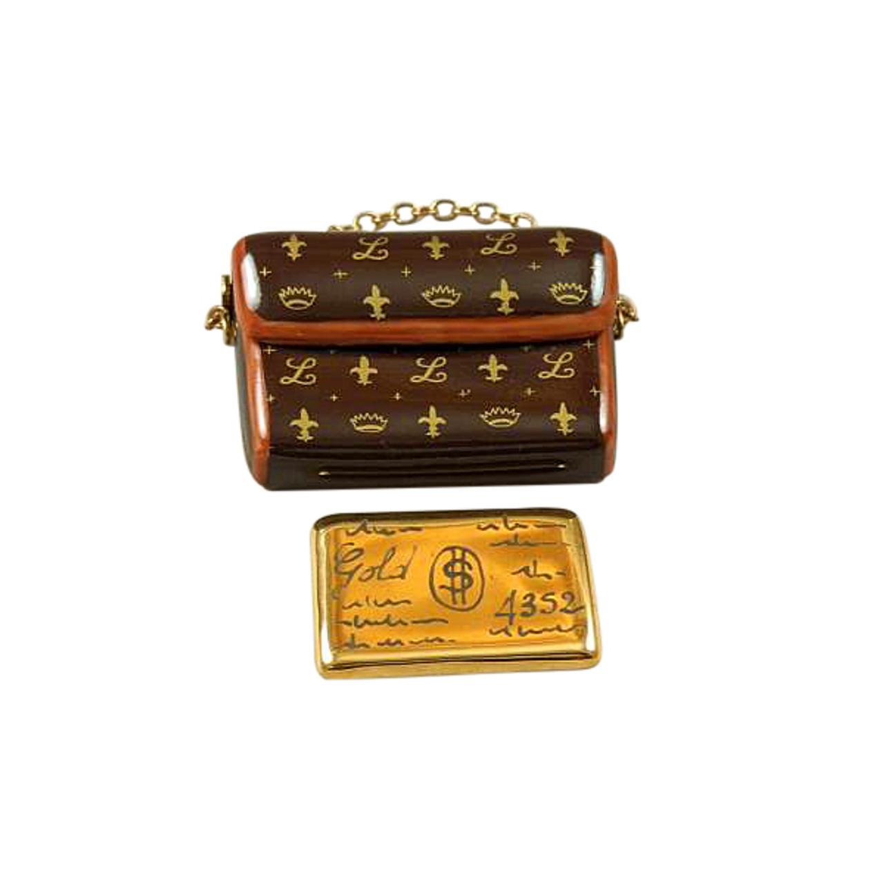 DESIGNER CLUTCH PURSE WITH CREDIT CARD Limoges Box RL204-K