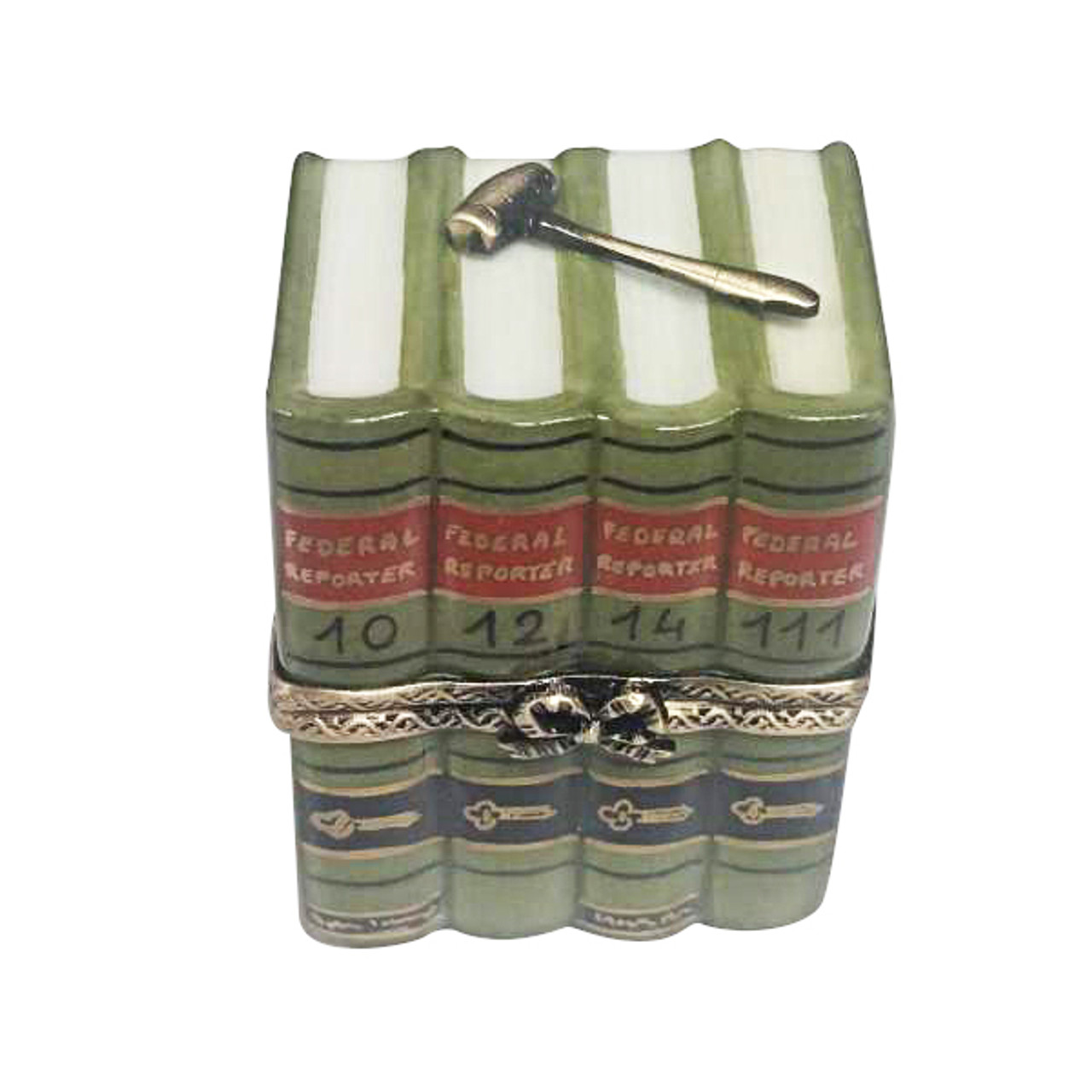 Rochard LAW BOOKS WITH GAVEL Limoges Box RN052-I