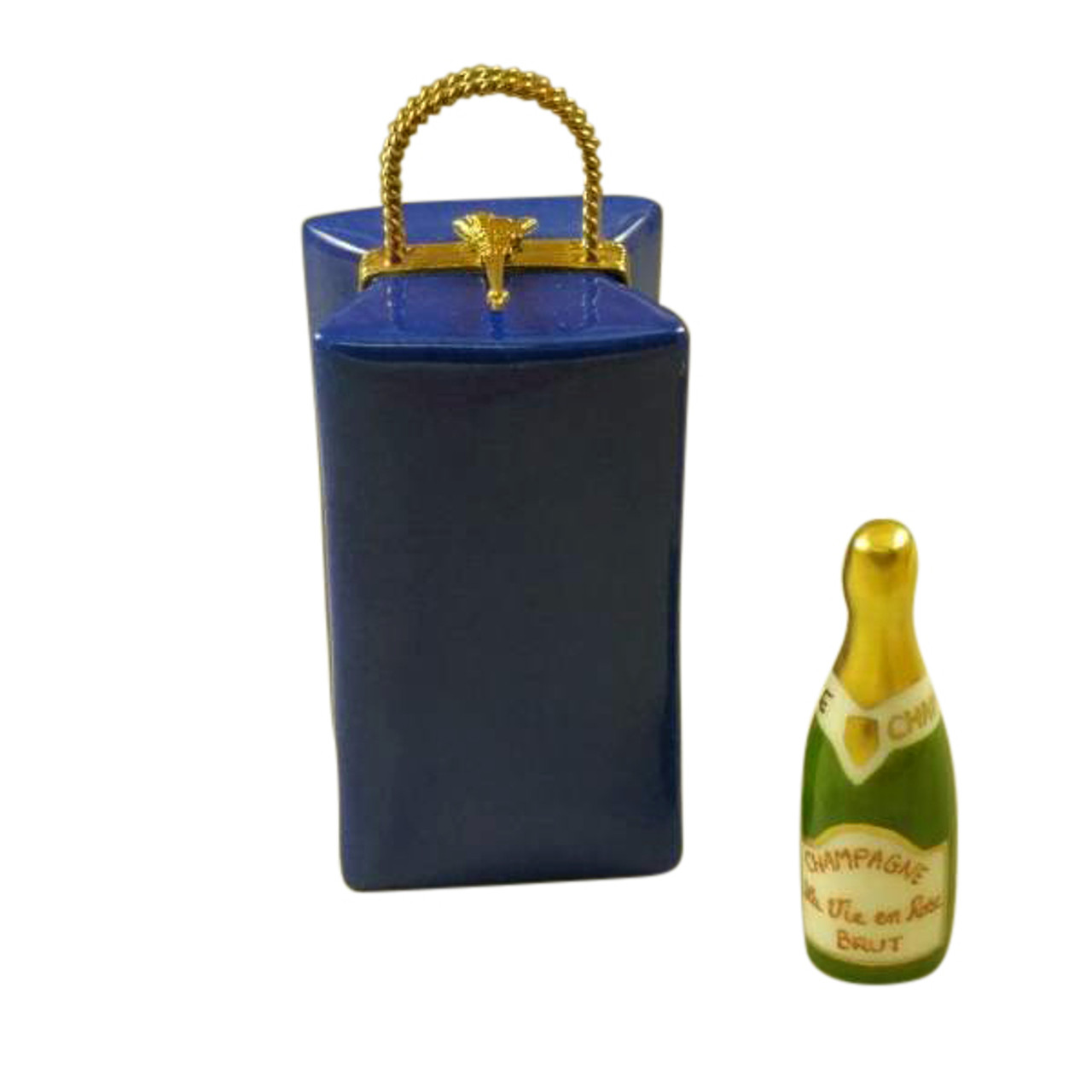 PARIS BY NIGHT GIFT BAG WITH CHAMPAGNE BOTTLE Limoges Box