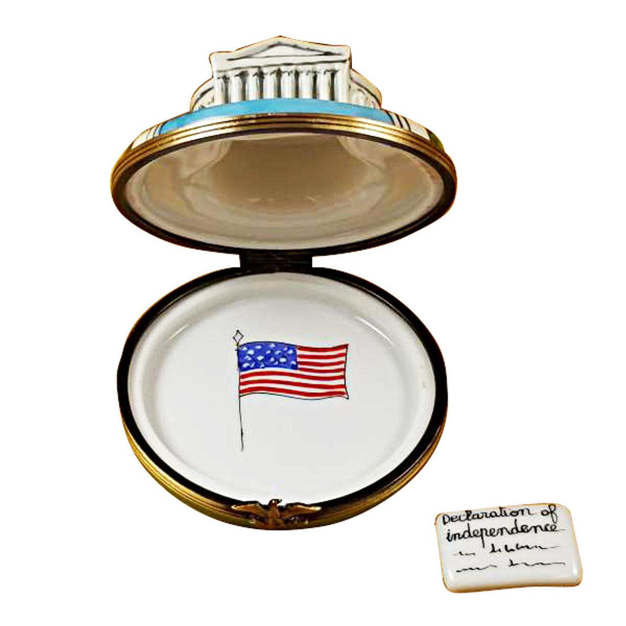 Rochard Jefferson Memorial Limoges Box RT246-I