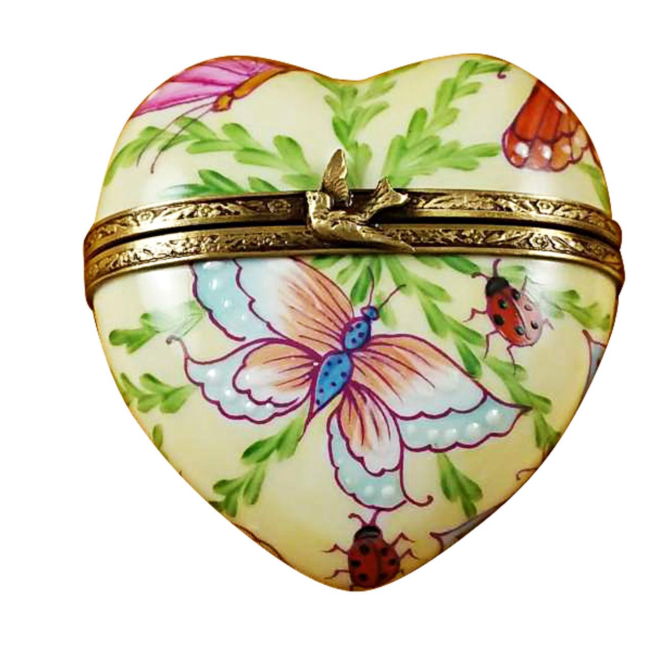 Rochard BUTTERFLY HEART Limoges Box RH150