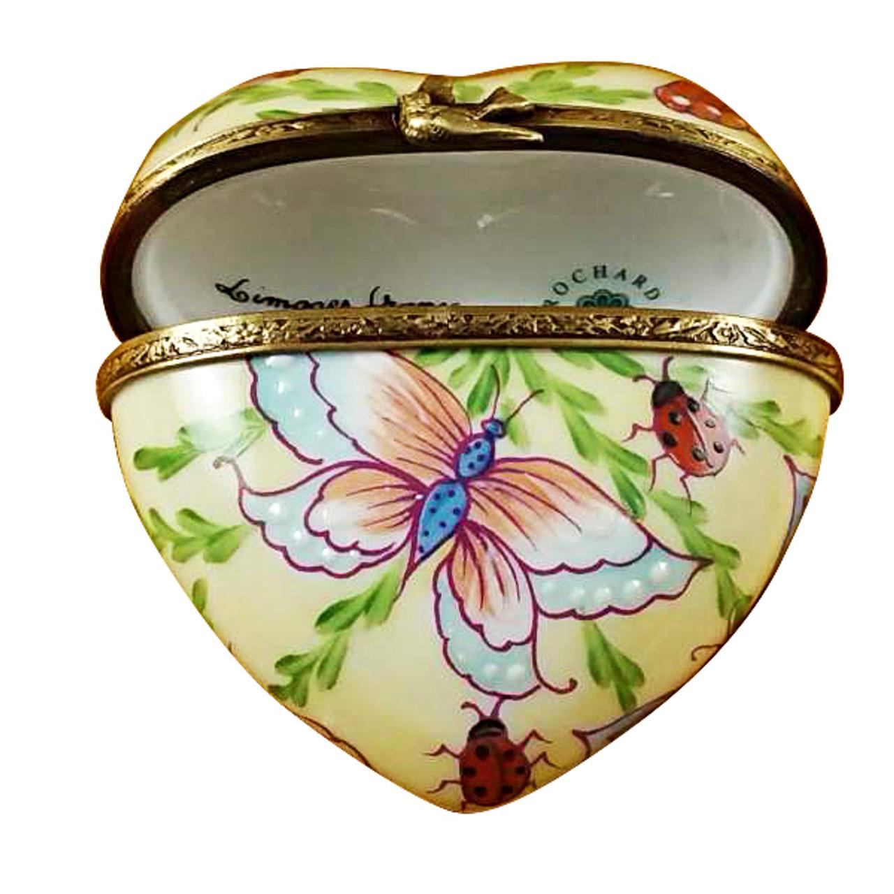 Rochard BUTTERFLY HEART Limoges Box RH150-I