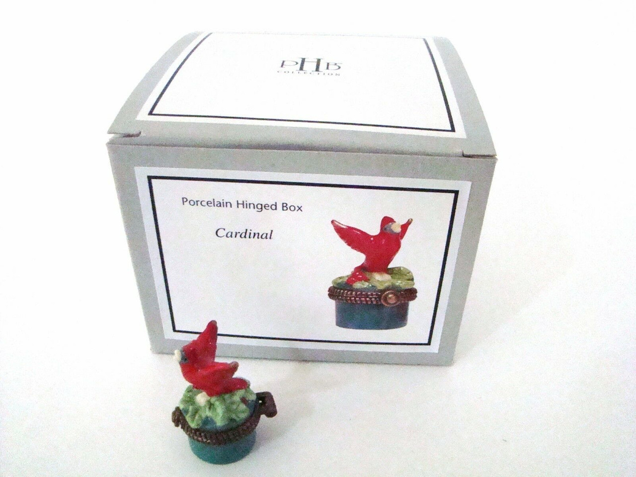 PHB Midwest of Cannon Falls Hinged Boxes - SONG BIRD SERIES & Cardinal Set of 8