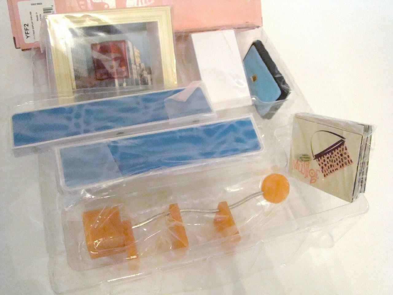 American Girl AG Mini Boutique DISPLAY SHELVES Boxed Set YFF2