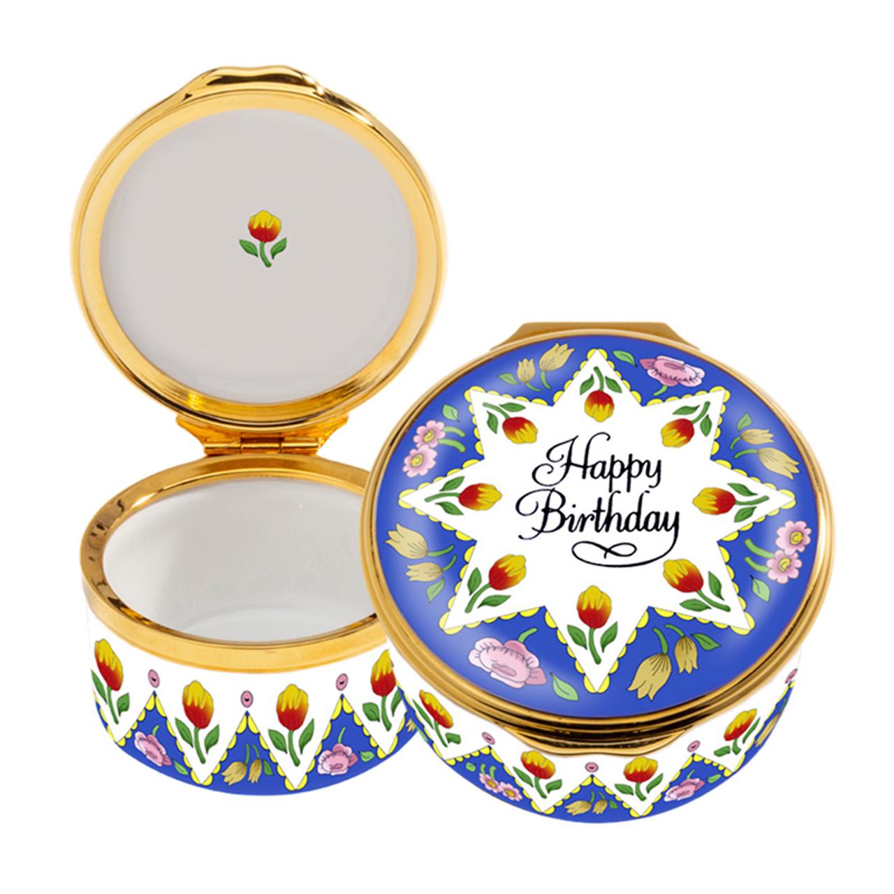 Halcyon Days Happy Birthday Box ENHPB0101G