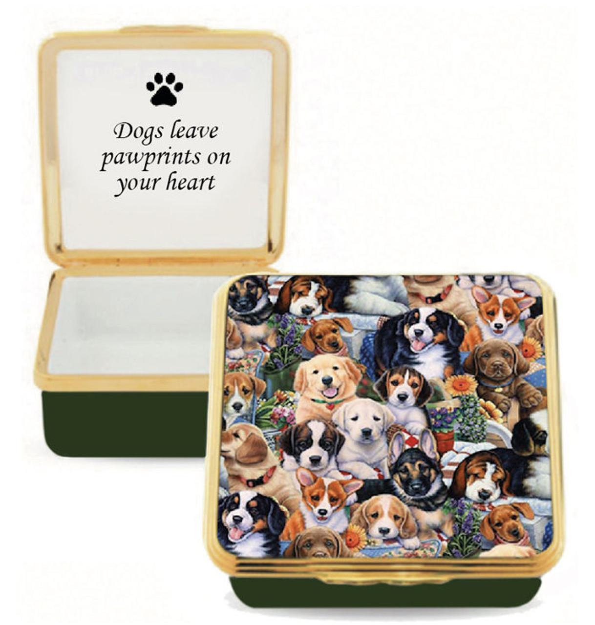 Halcyon Days Dogs Leave Pawprints On Your Heart (ENDPP1258G)