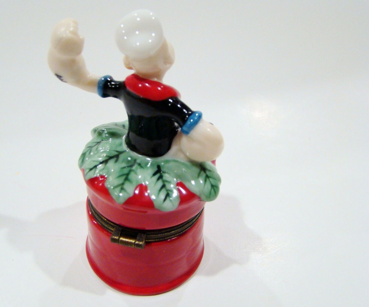 Popeye in Spinach Can Porcelain Hinged Box