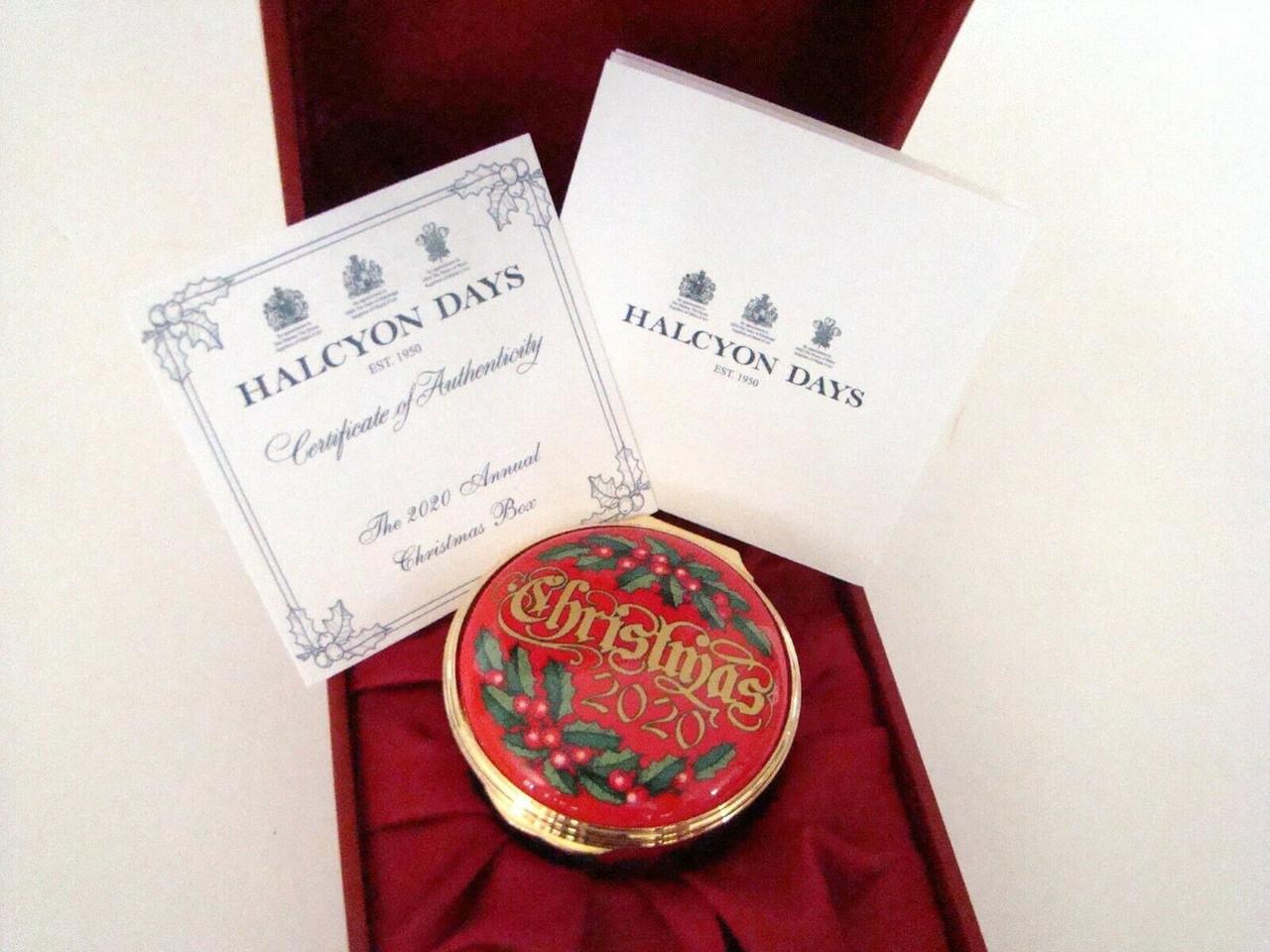Halcyon Days 2020 47th Annual Christmas Box ENCH200101G