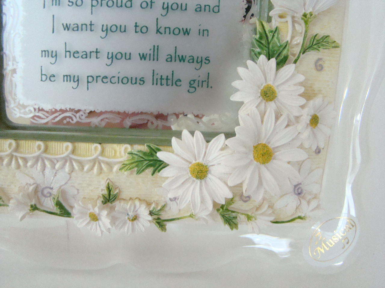DAUGHTER - Musical Decorative Frame with Daughter Poem