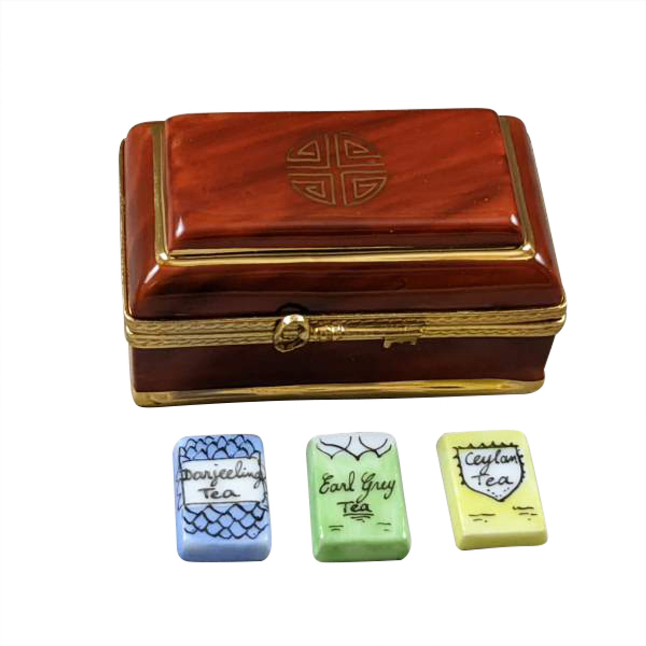 Tea Box Limoges Box with 3 Removable Tea Bags