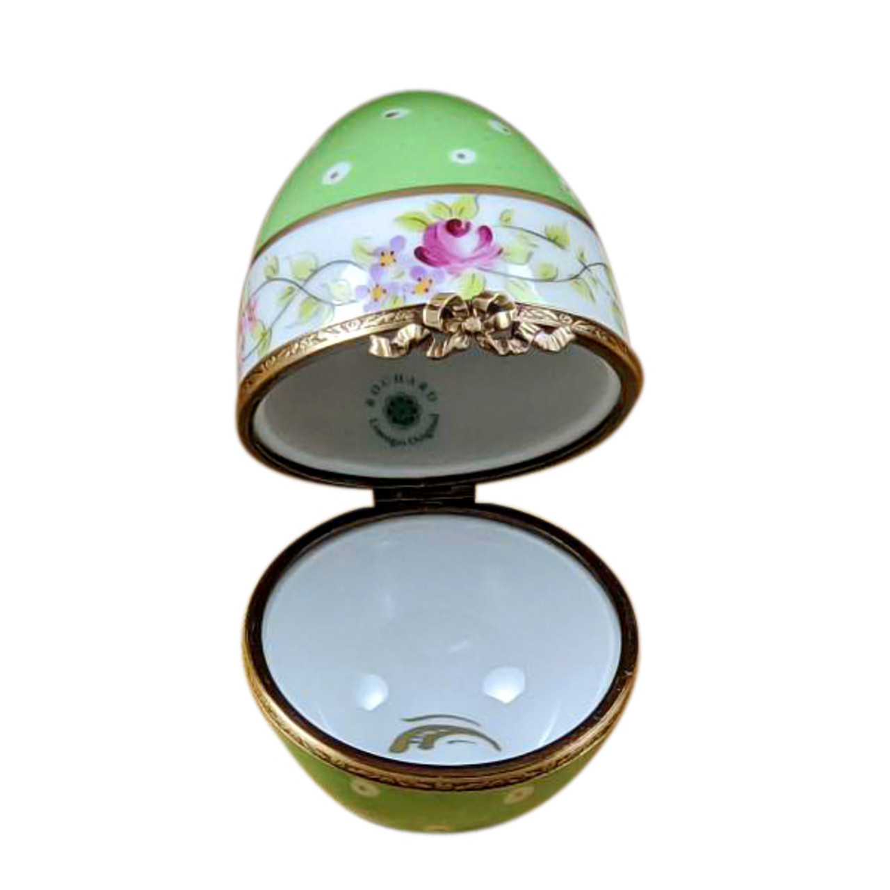 Green Egg with Flowers Rochard Limoges Box