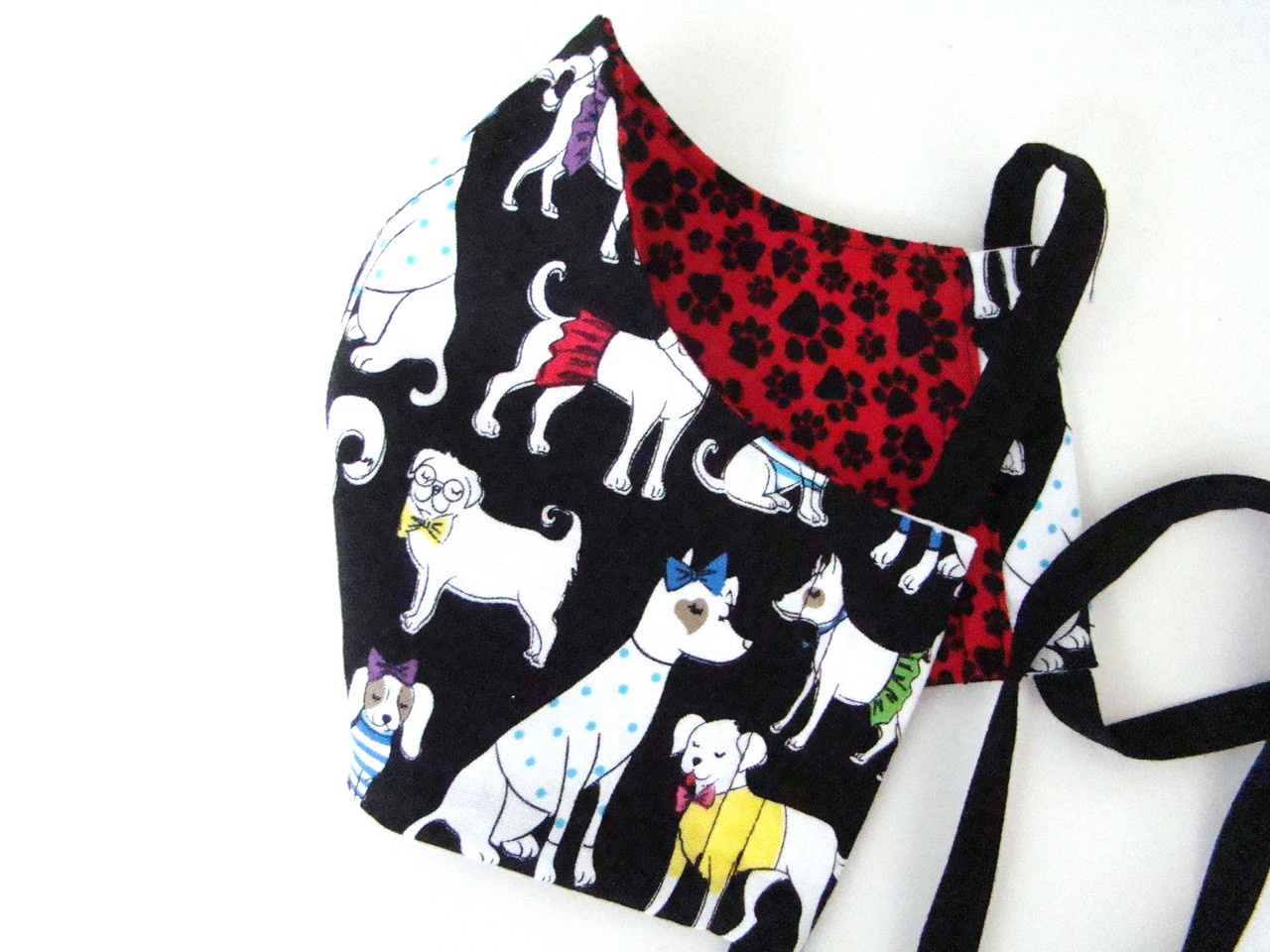Dressed Dogs and Paw Prints Theme Print (FM-DRESSEDDOGS-PAWPRINTS)