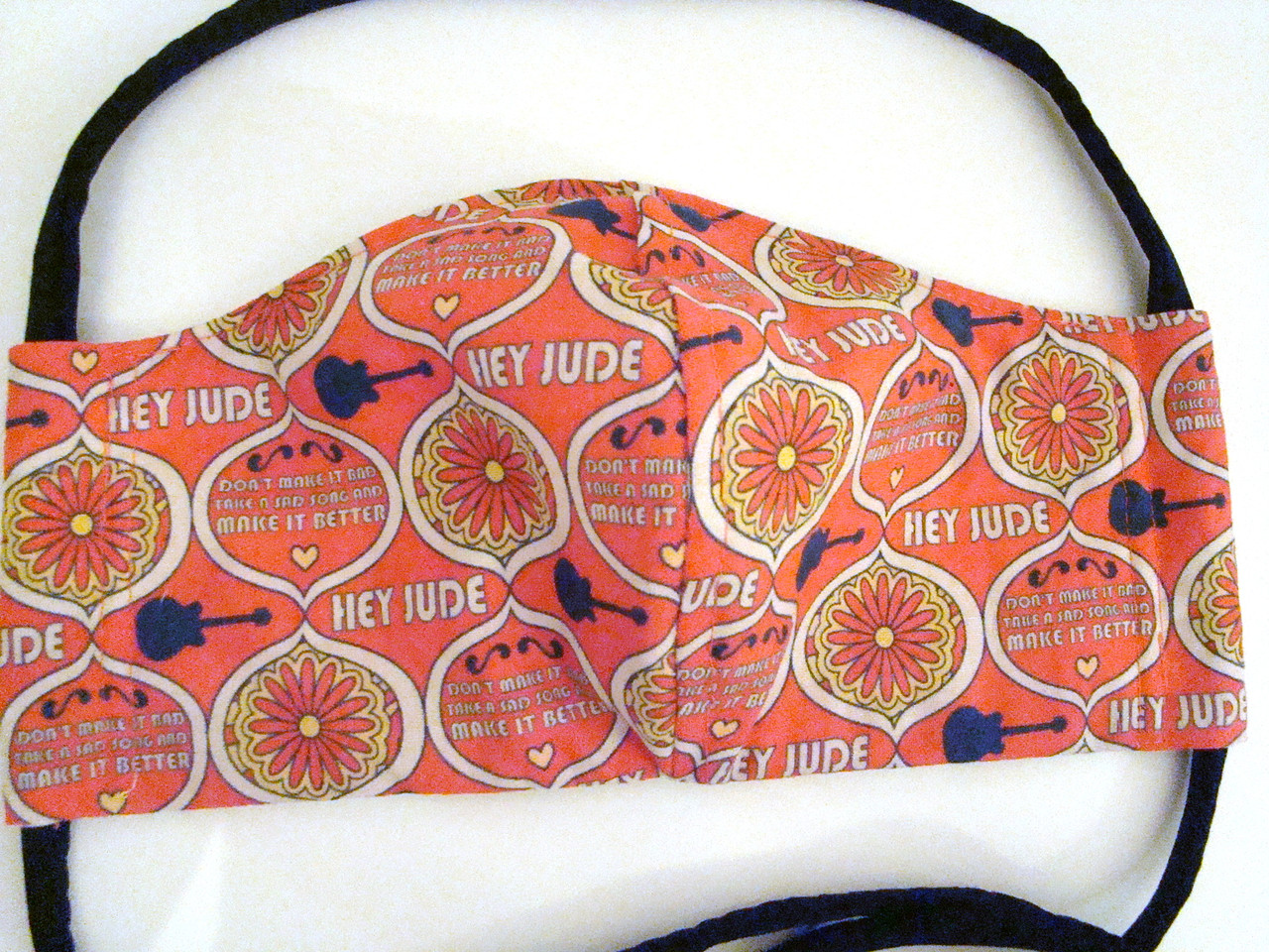 Face Mask - Beatles Hey Jude Reversible Yellow Submarine