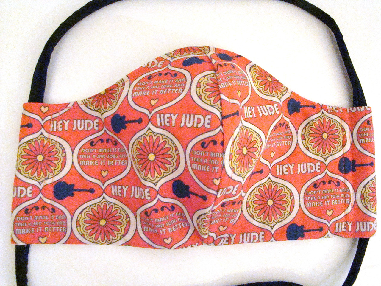 Face Mask - Beatles Hey Jude Yellow Submarine Reversible