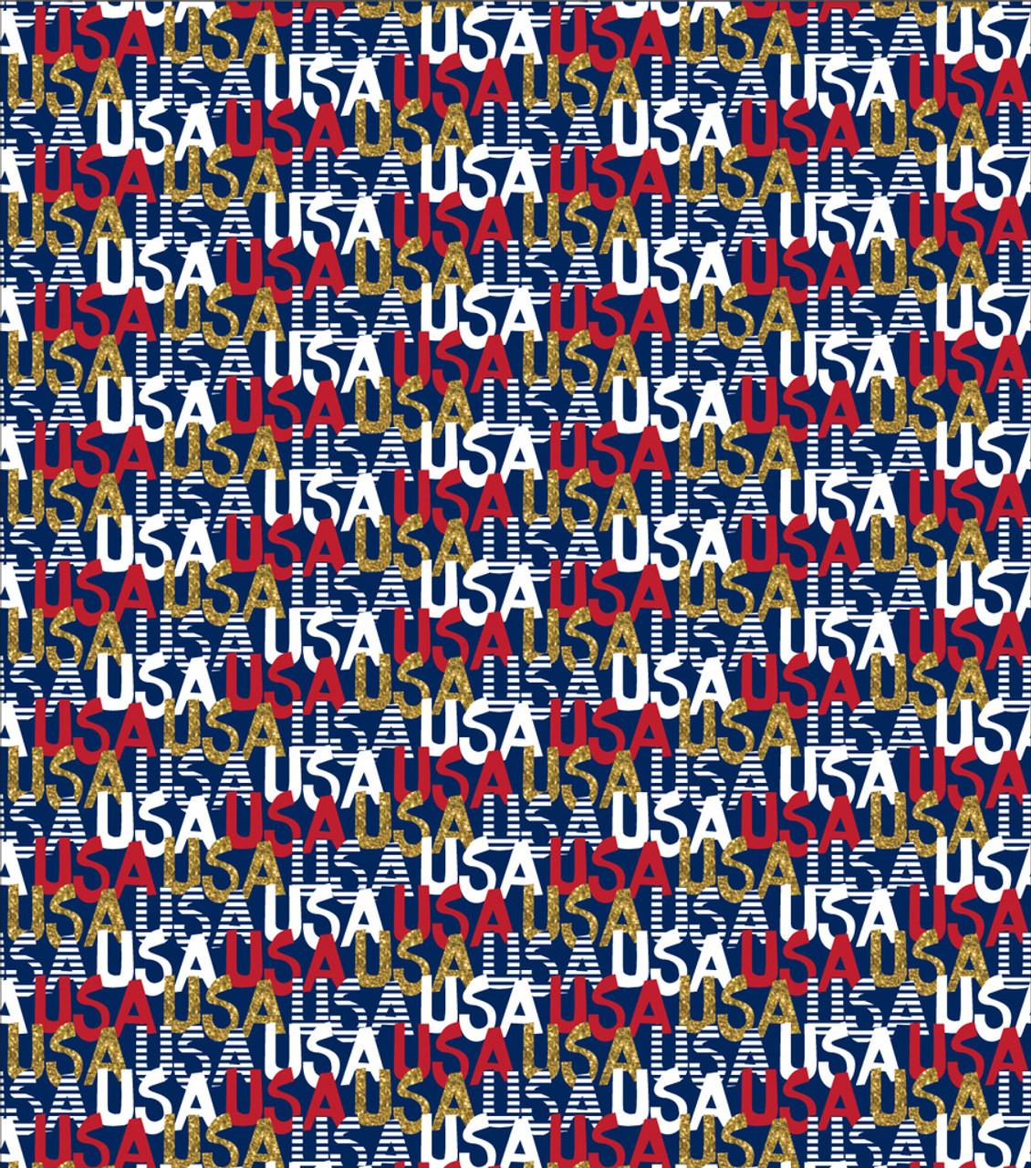USA Gold Glitter