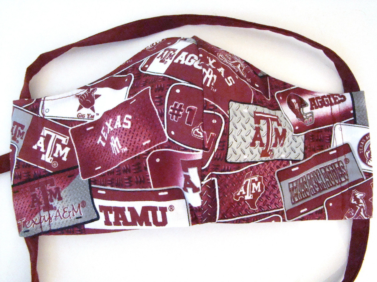 Face Mask with Texas A&M License Front