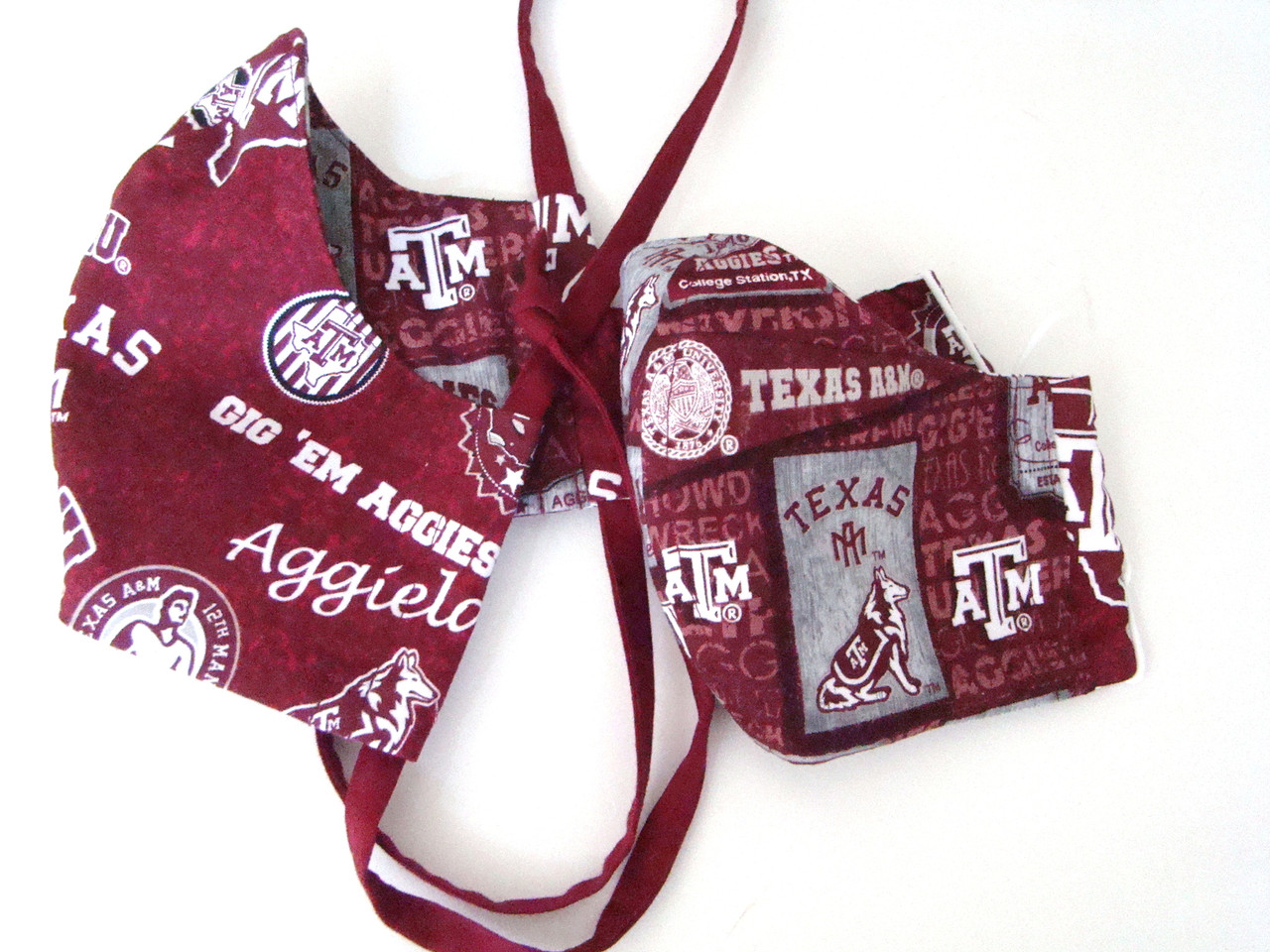 Face Mask in Texas A&M Home State and Vintage Pennants