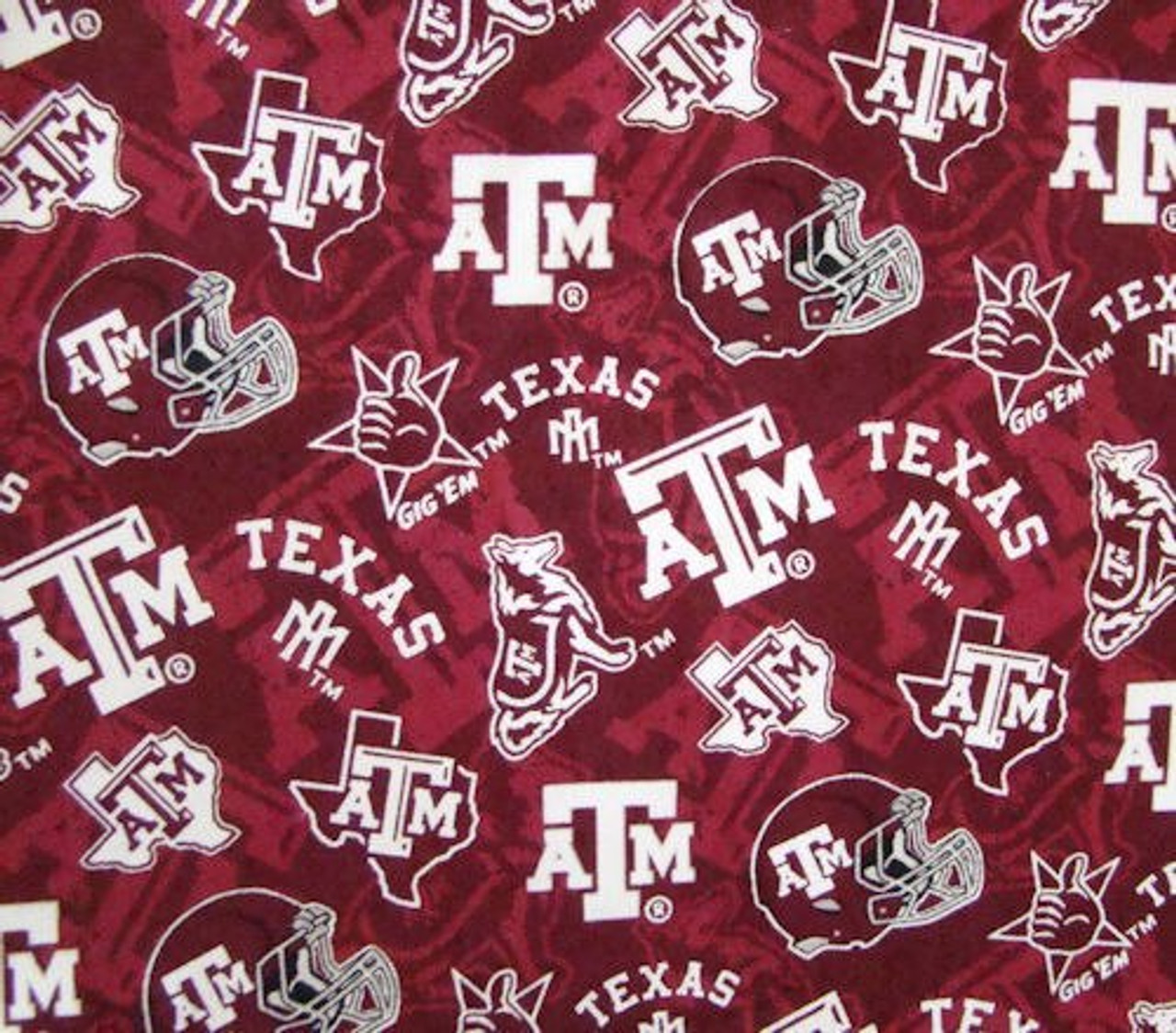 Texas A&M Gig Em Maroon Tone on Tone