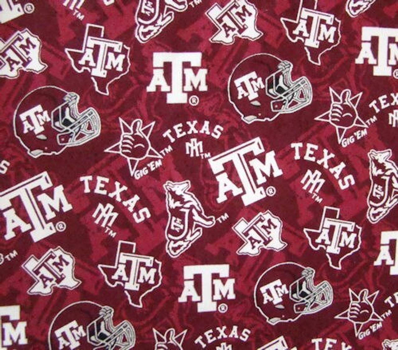 Texas A&M Gig Em Maroon Tone on Tone