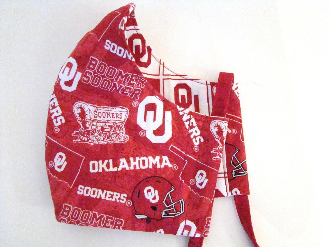 University Of Oklahoma Sooners Cloth 3 Layer Reversal Face Mask