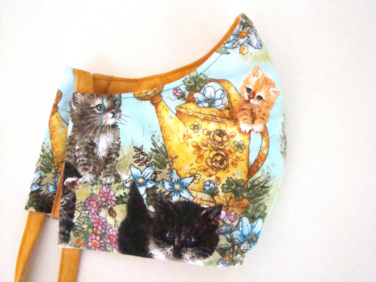 Kitty Cats and Flower Pots (FM-KITTY-FLOWERPOTS)