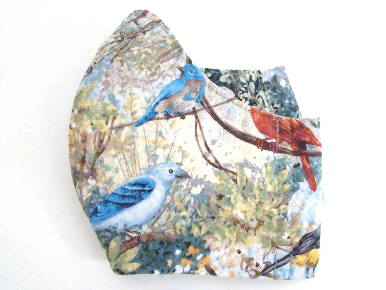 Red Cardinal and Bluebird (FM-REDCARDINAL)