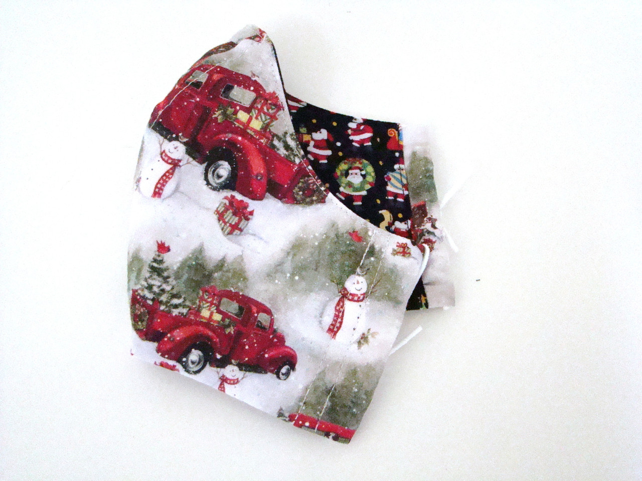 Face Mask - Holiday Red Truck and Snowman