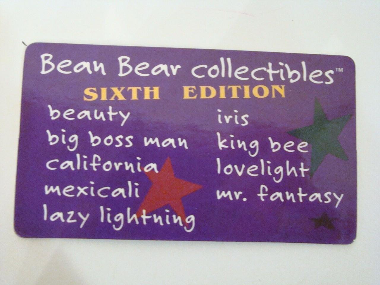 Grateful Dead Bean Bear Laminate Collector Card 5 cards 4,5,6,7,10