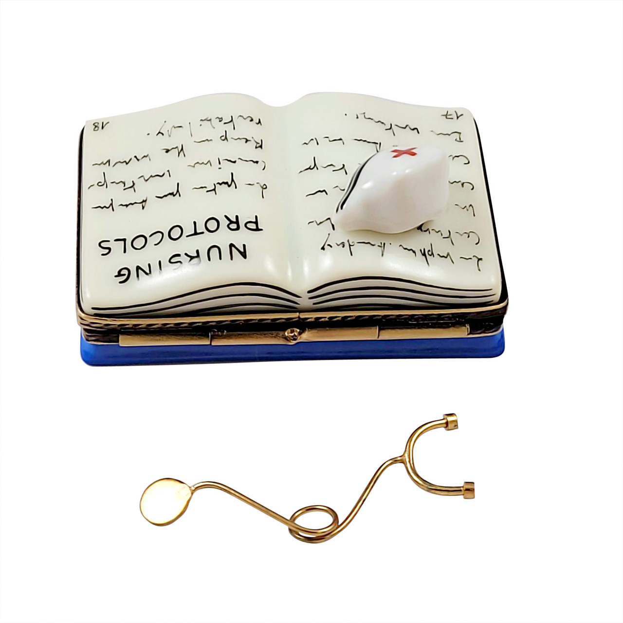 Nursing Book with Stethoscope Book Limoges Box