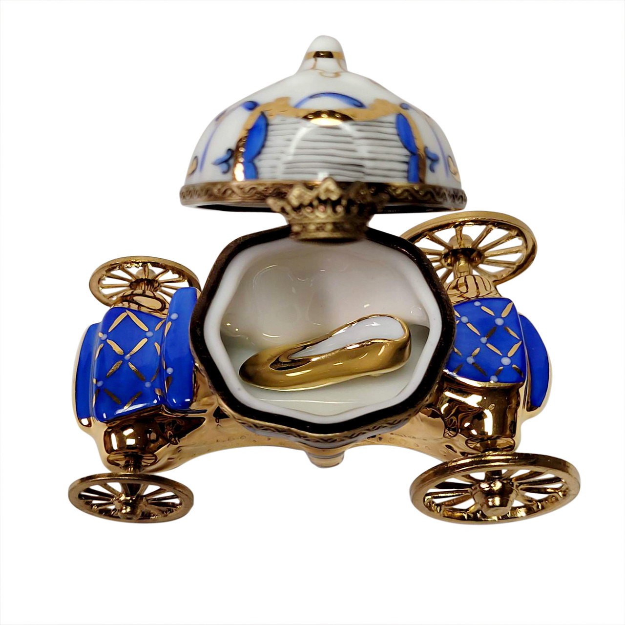 Cinderella Carriage with Slipper Limoges Box RB107