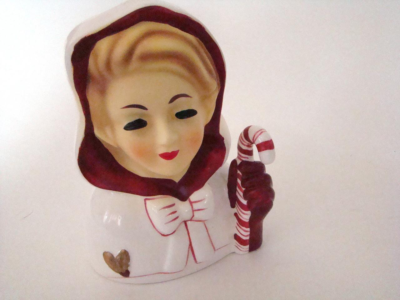 Christmas Lady Head Vase (HVM-XmasLady)