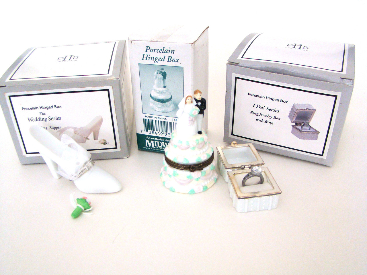 Wedding Set of 3 PHB Midwest of Cannon Falls Boxes