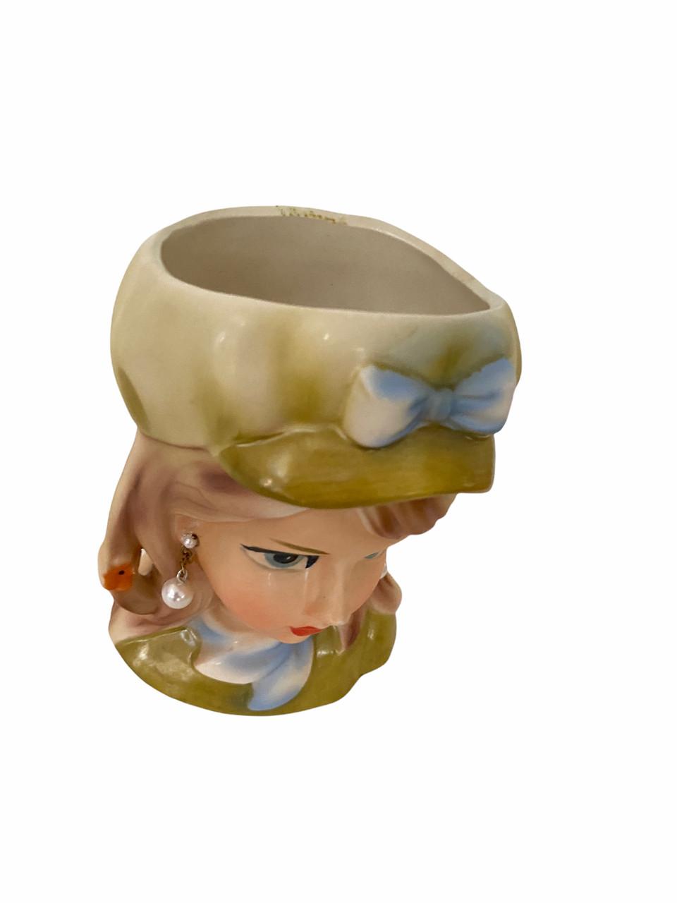 Vintage Lady Head Vase Rubens 4155 in Hat (Rubens4155)