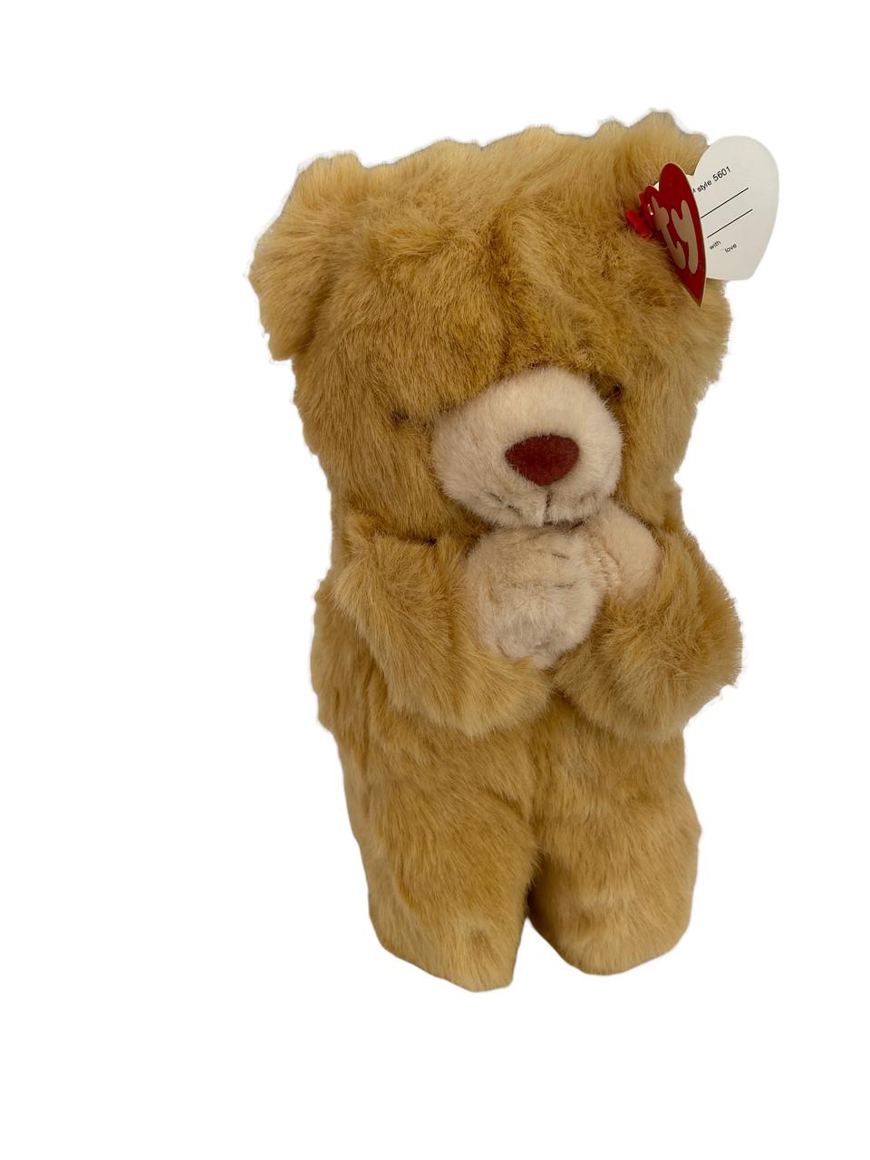TY Plush HOPE Light Brown Bear Praying