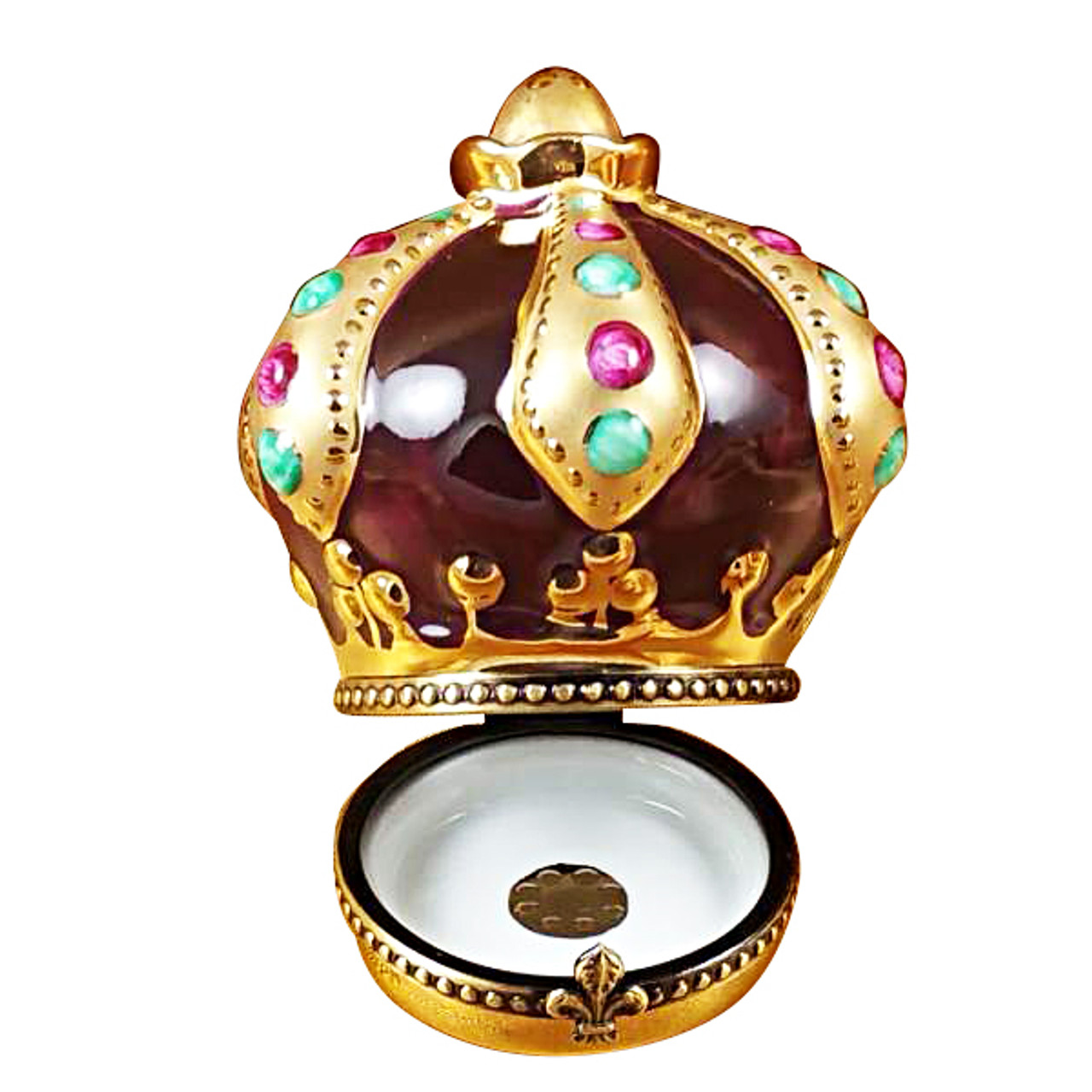 Crown With Jewels Rochard Limoges Box