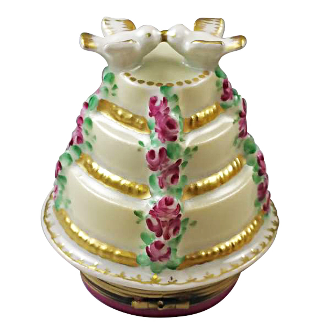 Forever Love 3 Tier Cake With Doves Rochard Limoges Box