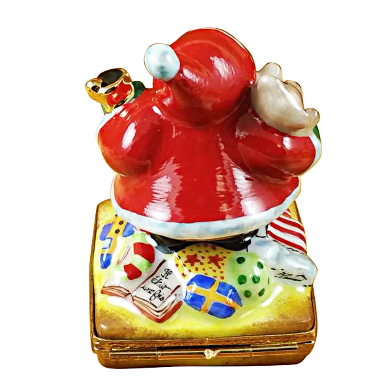 Santa W/Bell Rochard Limoges Box