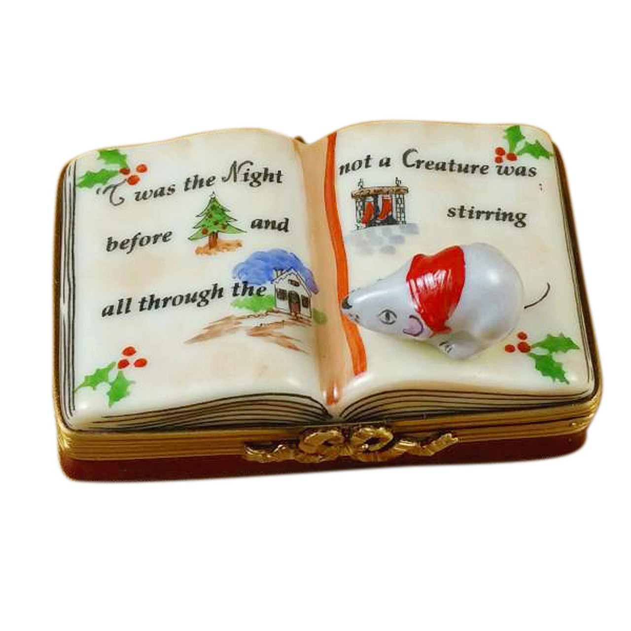 Twas The Night Before Christmas Book Rochard Limoges Box
