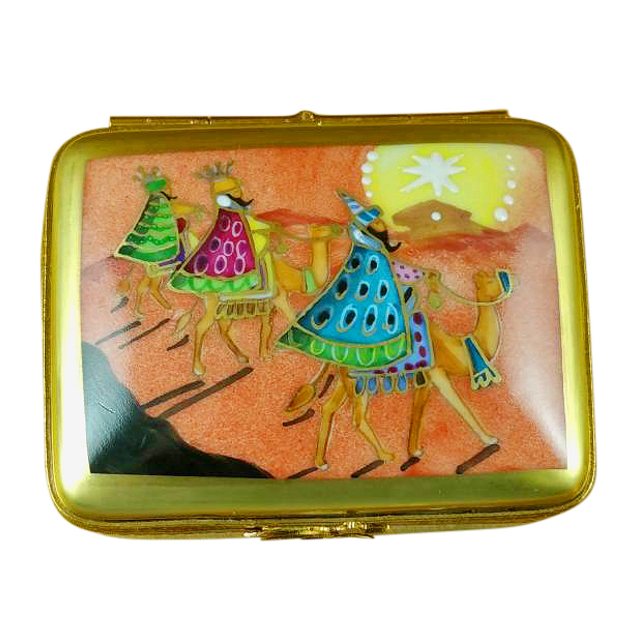 Rectangular With Wisemen On Camels Rochard Limoges Box