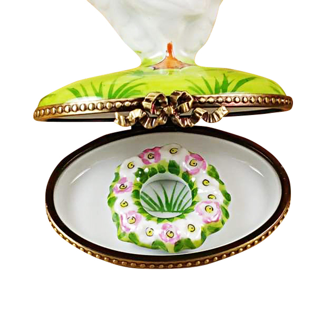 Goose With Spring Wreath Rochard Limoges Box