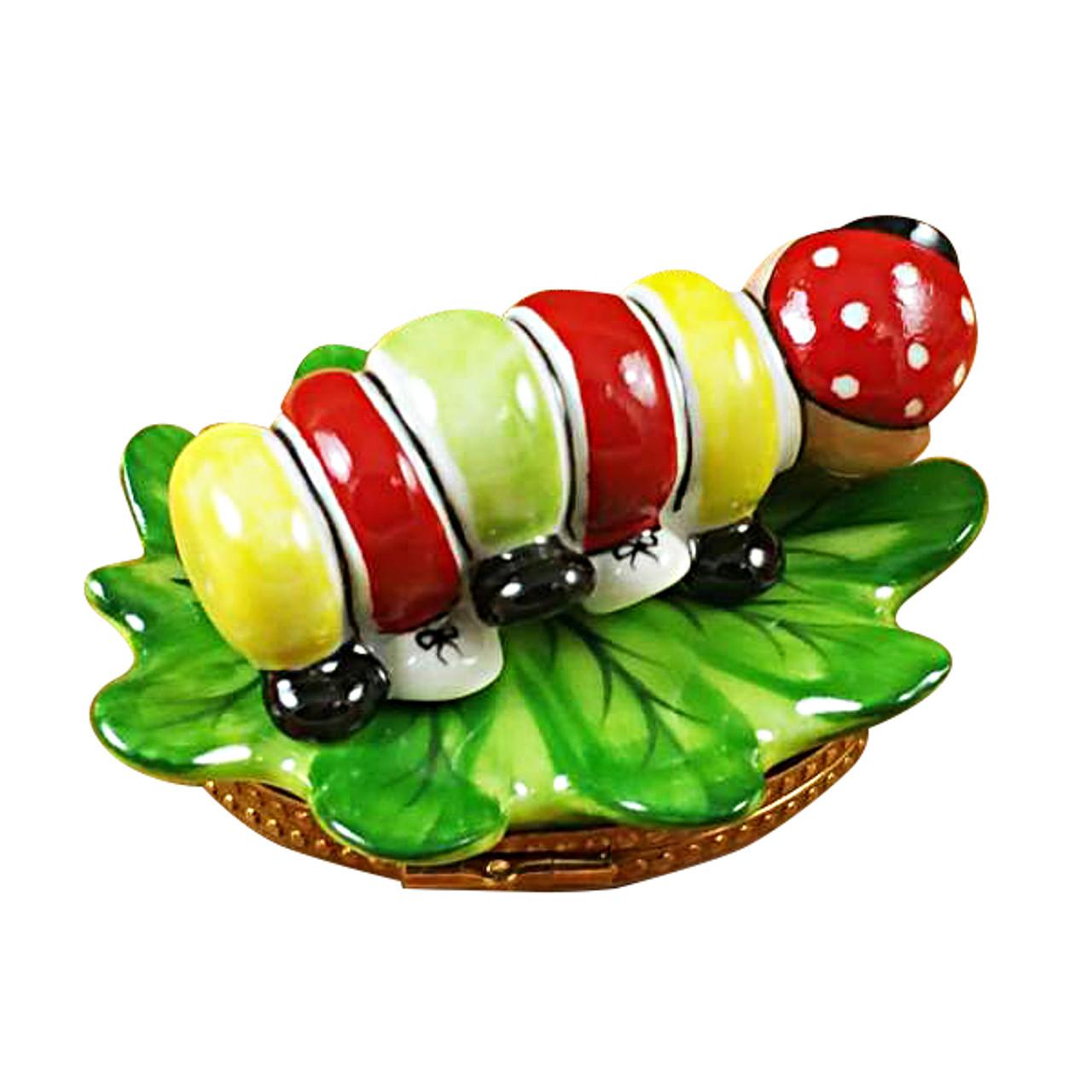 Caterpillar On Leaf Rochard Limoges Box