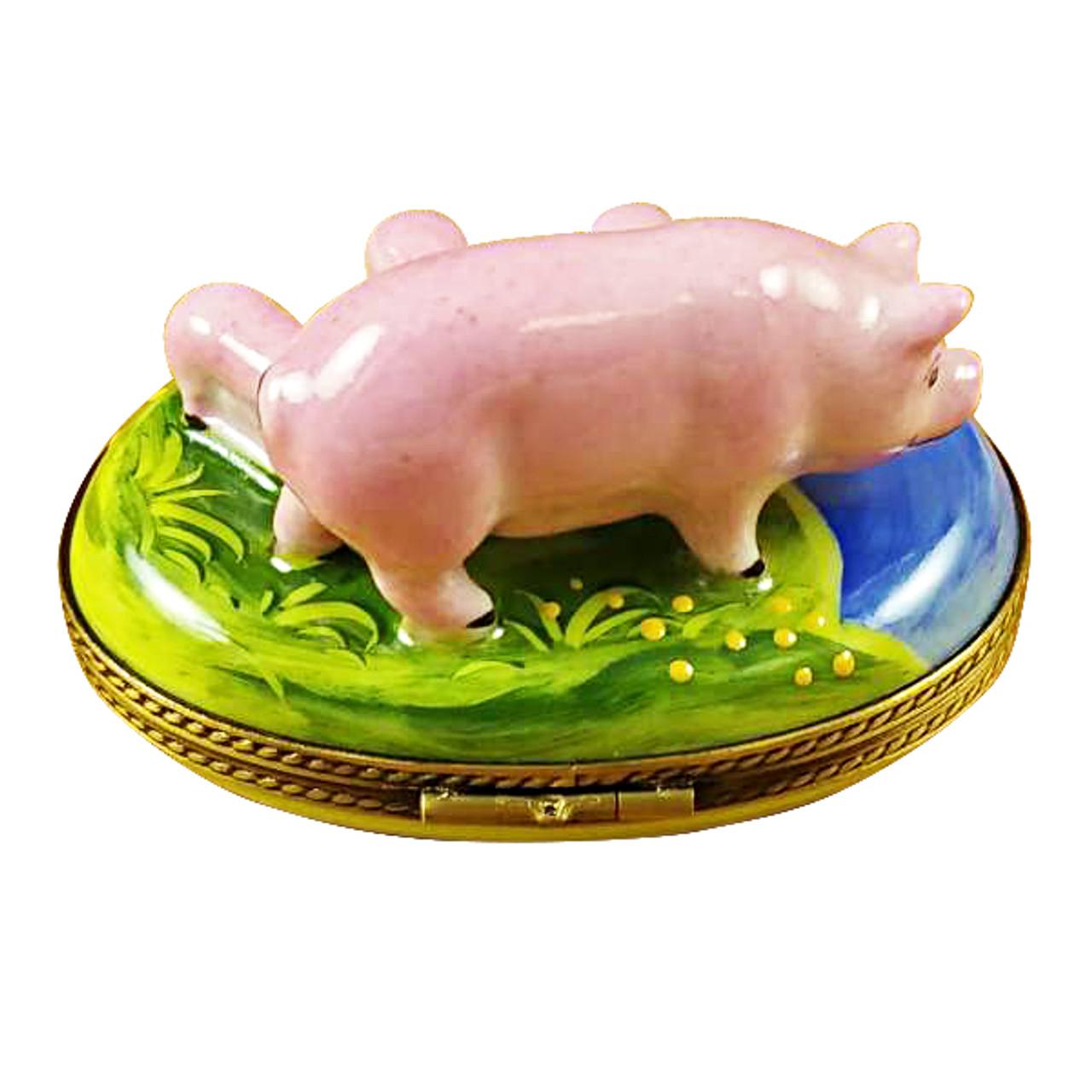 Pig With Three Babies Rochard Limoges Box