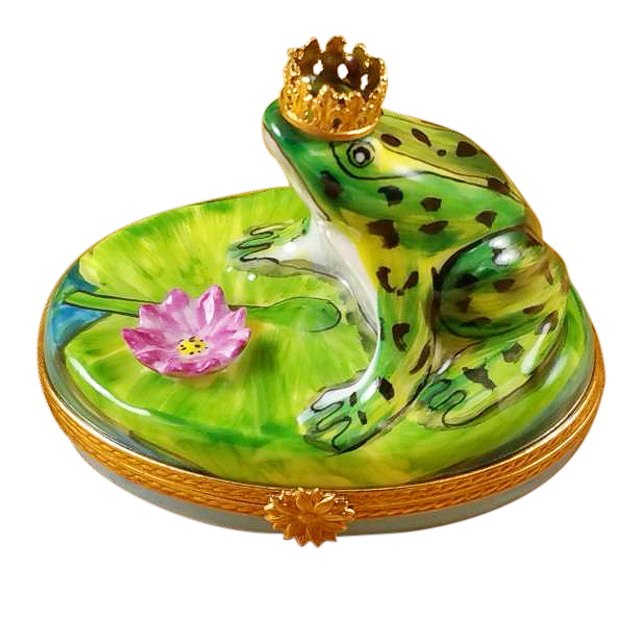 Frog W/Crown Rochard Limoges Box