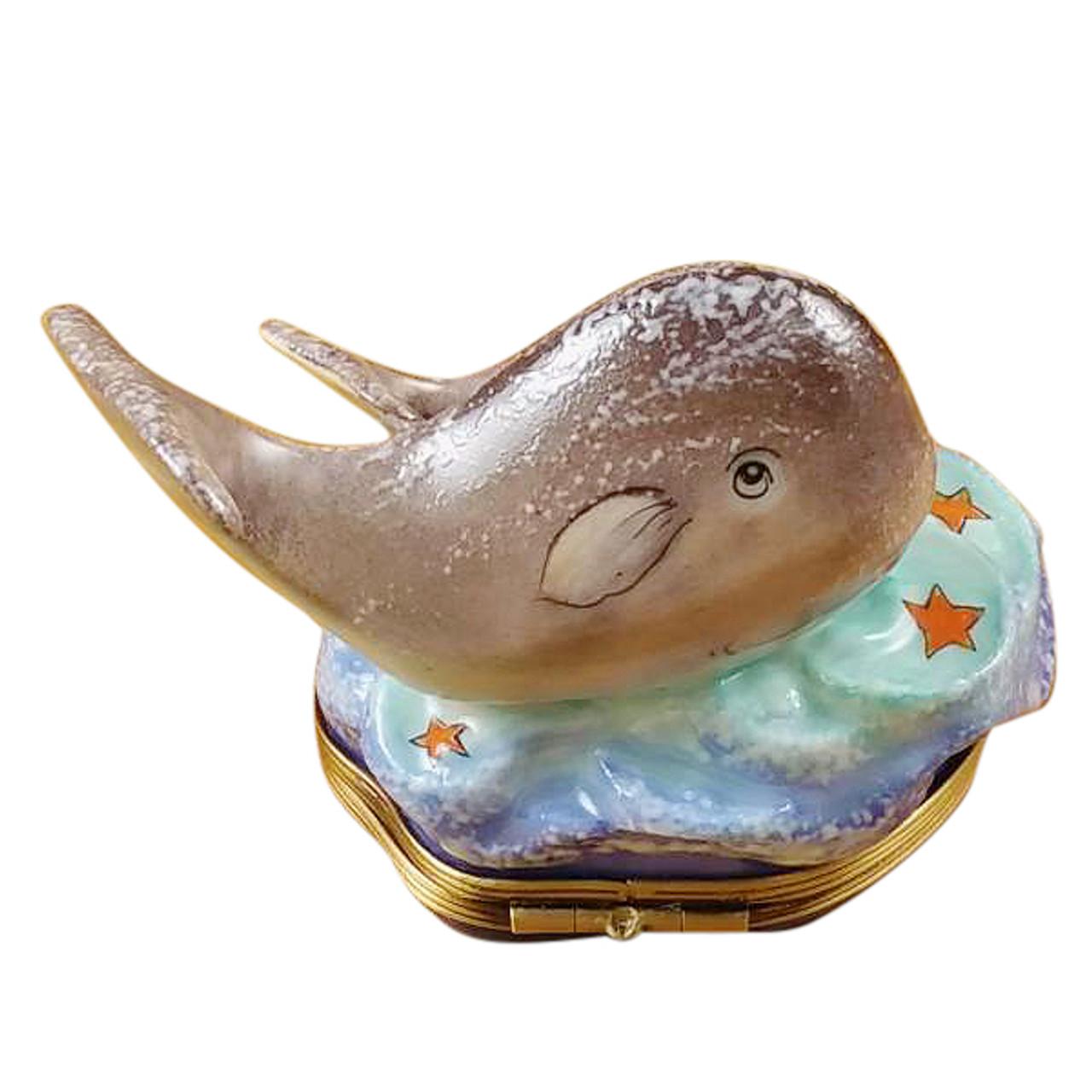 Whale With Baby Rochard Limoges Box