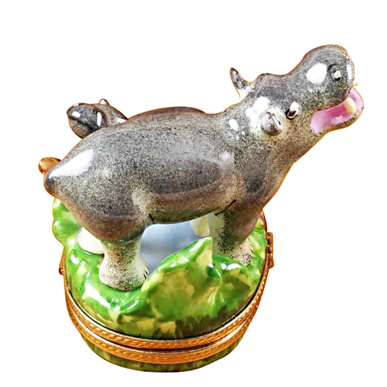 Hippo And Baby Rochard Limoges Box