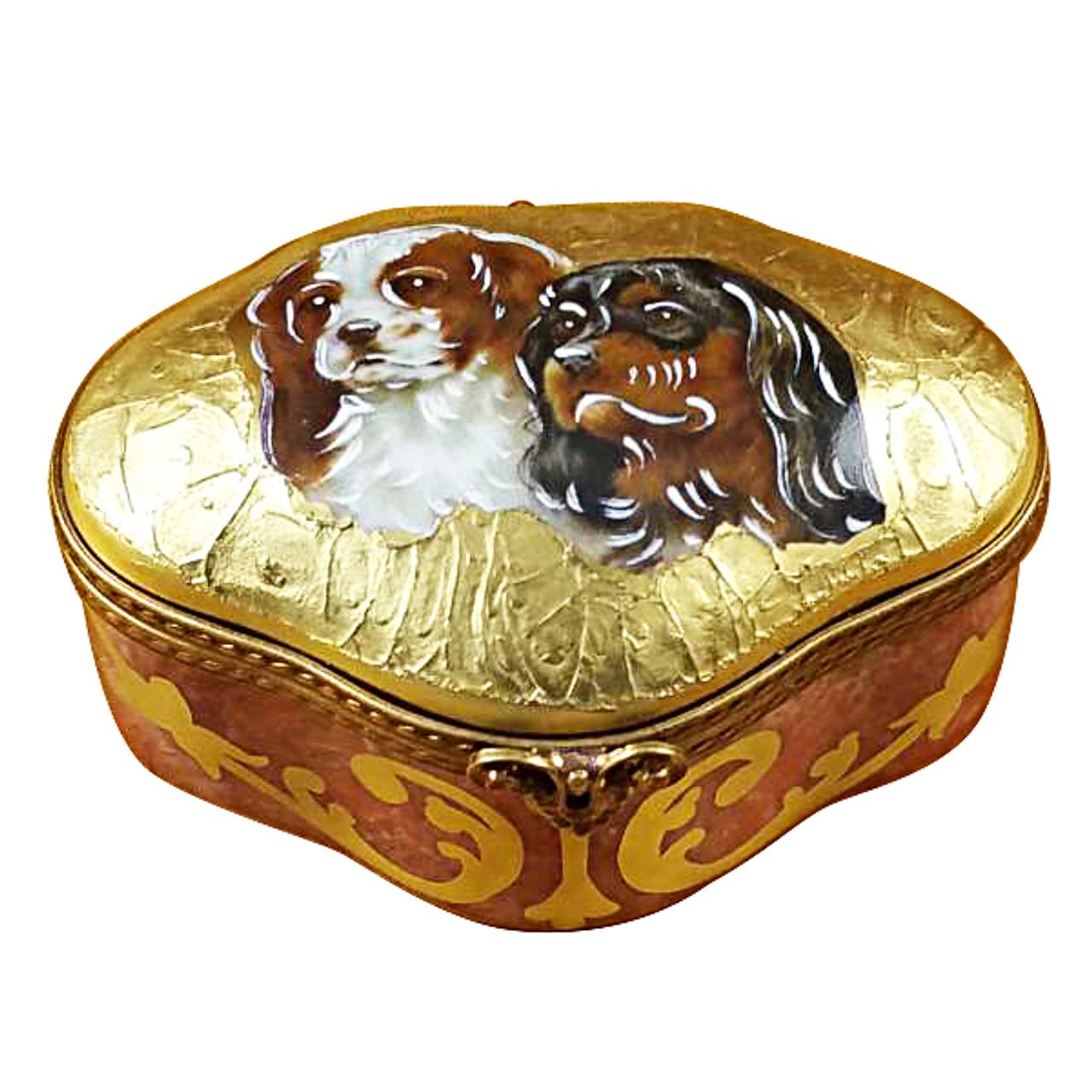 King Charles Spaniels Rochard Limoges Box