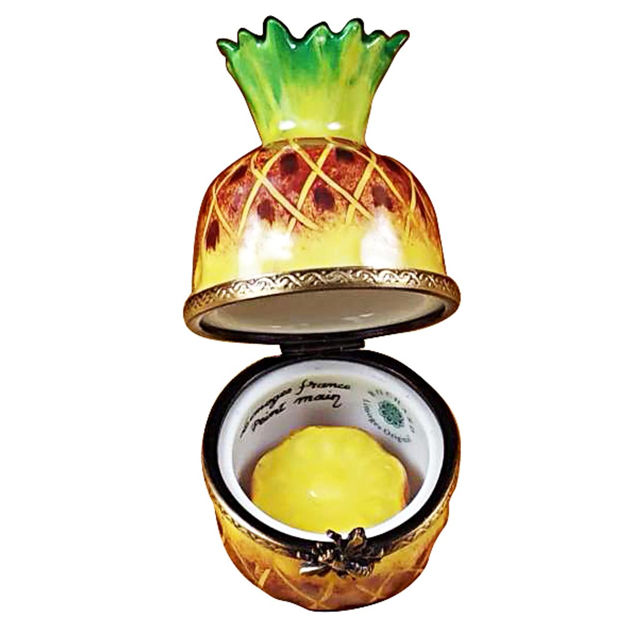 Pineapple With Slice Rochard Limoges Box