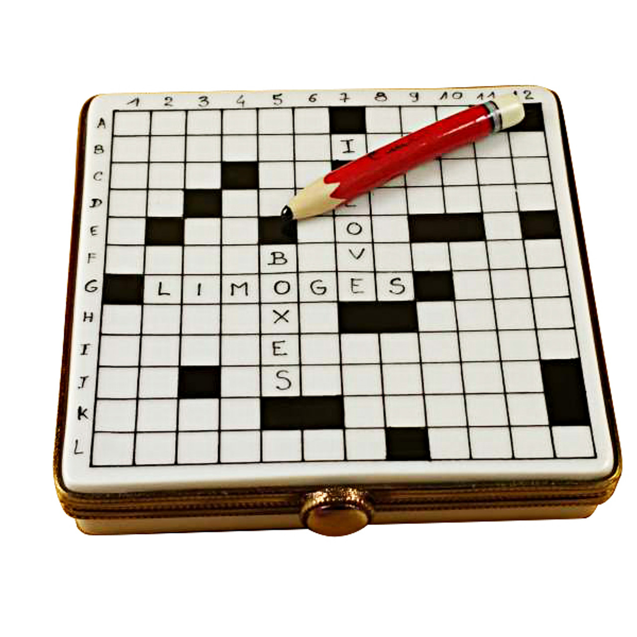 Crossword Puzzle Rochard Limoges Box